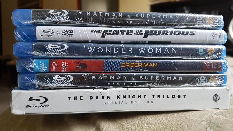 Peliculas En Blu Ray (nuevas, Originales Y Selladas) Stock.