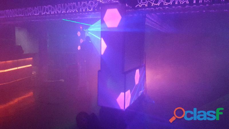 Decoración de luces LED pixel y RGB para discotecas , bares