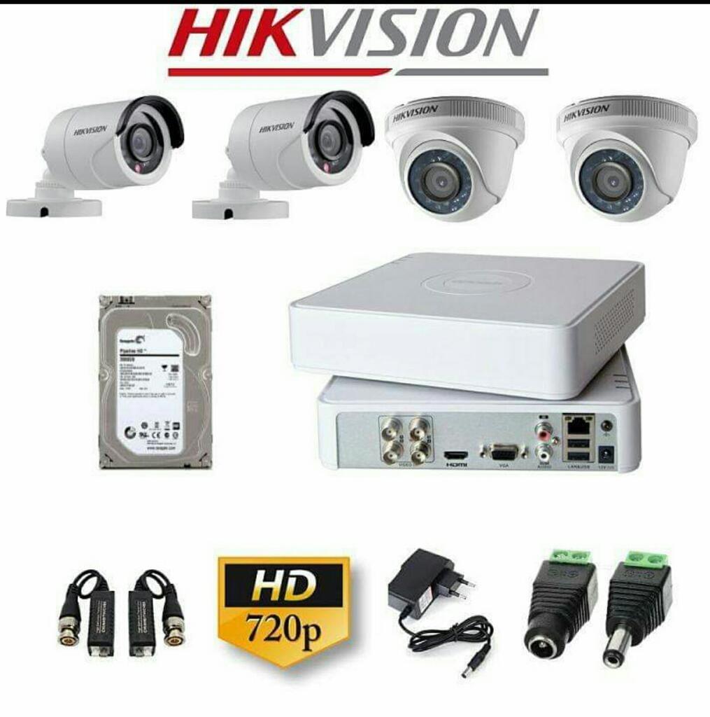 Kit de 4 Camaras Hd Hikvision