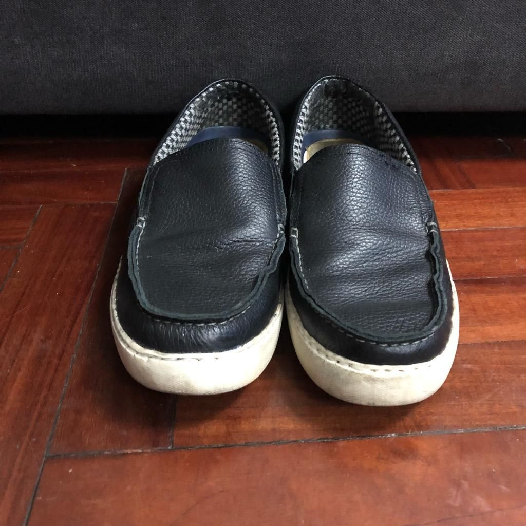 Remato cómodos Mocasines Zapatos de Cuero Marca Bass Talla