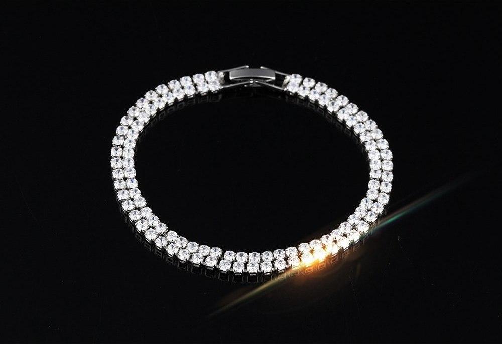 pulsera acero con cristales swarovski brillo extremo