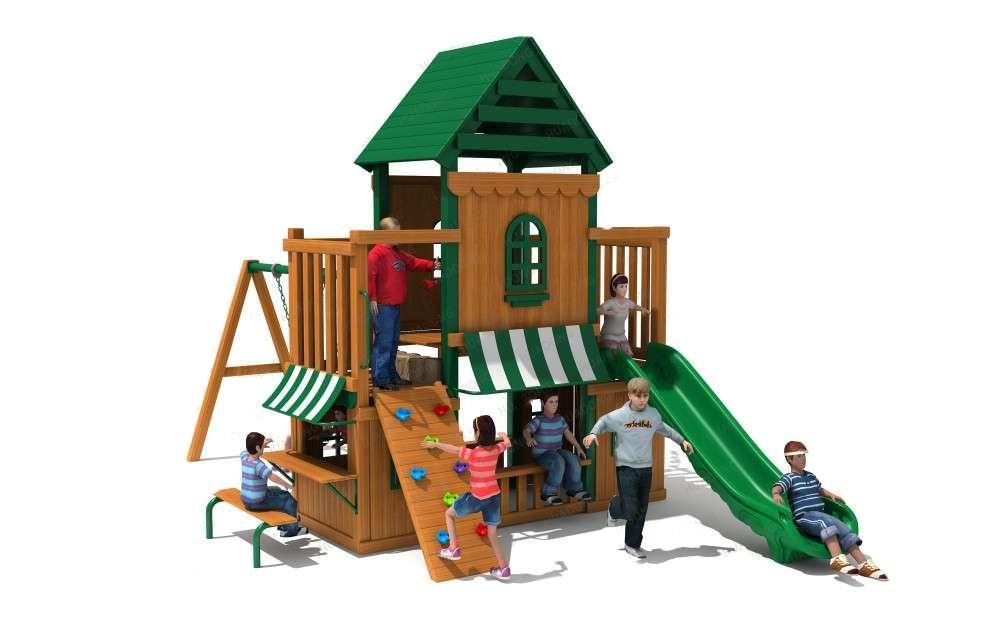 Juego De Parque Infantil De Niños Con Resbaladera Y