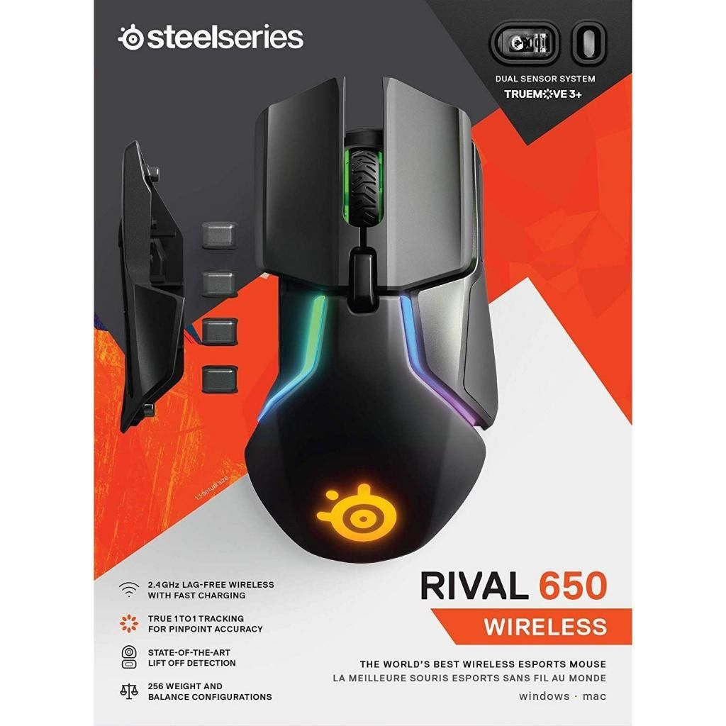 Mouse Inalambrico Steelseries Rival 650 Gaming Led- Rgb