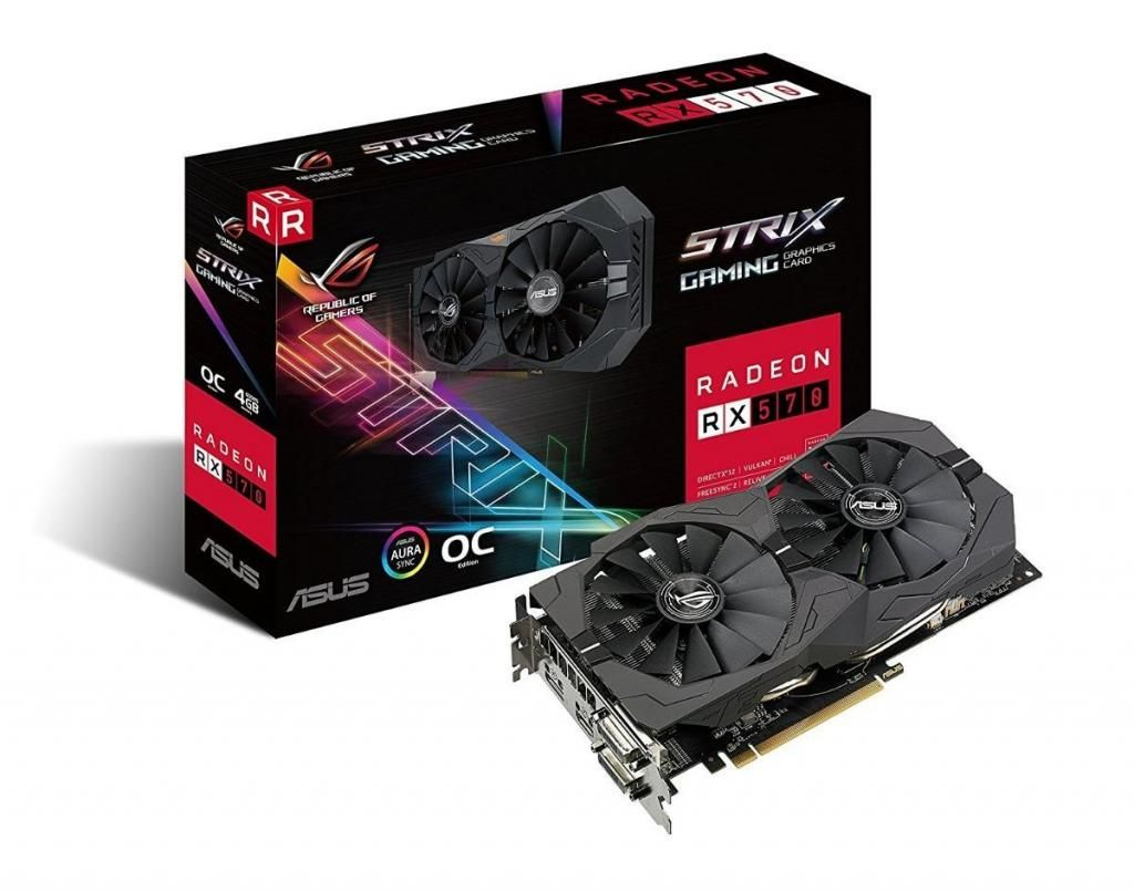 Tarjeta De Video Asus Rog Strix Amd Radeon Rx570 Gaming, 4gb