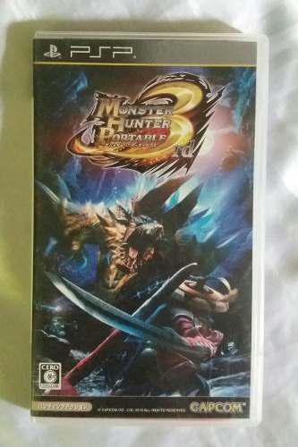 Monster Hunter Portable 3rd Caja Vacia Manual En Japones