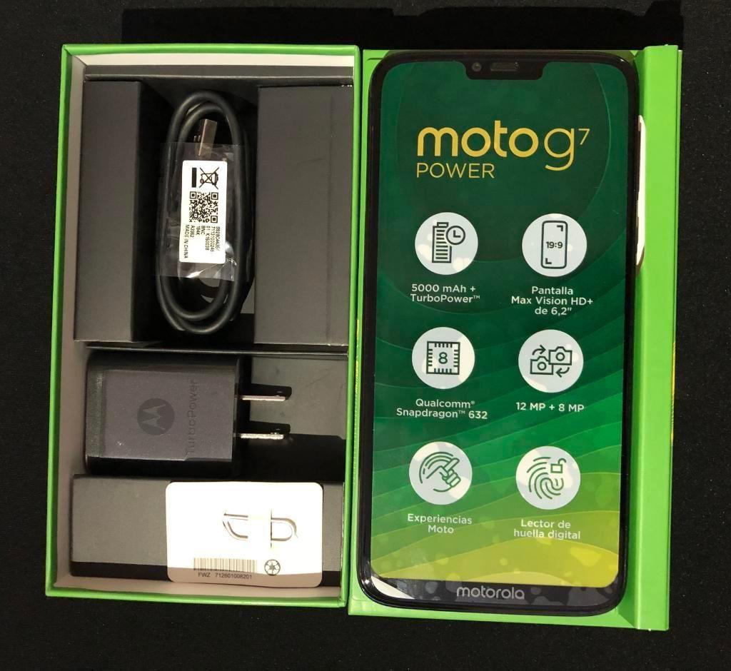 Vendo Moto G7 Power Nuevo en Caja
