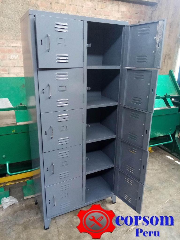 casillero de 10 puertas para oficina o tienda color