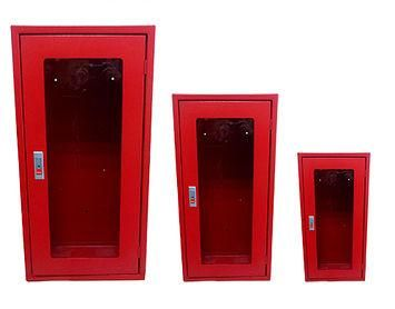 gabinetes para extintores 9 a 12 kilos con chapa y vidrio