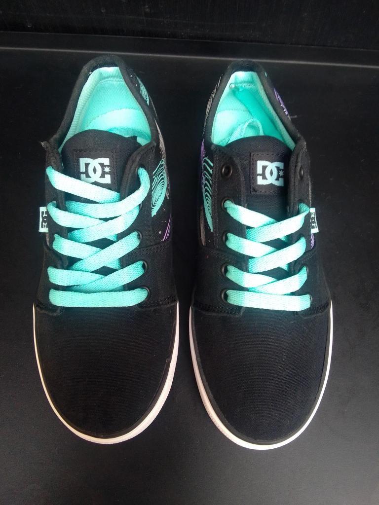 zapatillas DC youth tonik mujer talla 34 color negro con