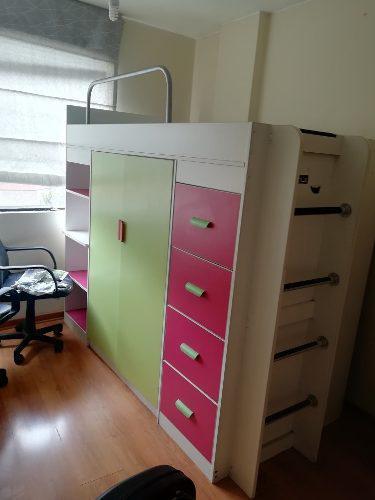 Mueble De Dormitorio, Cama Alta Para Niña O Adolescente