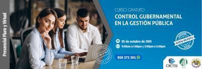 CURSO ESPECIALIZADO CONTROL GUBERNAMENTAL EN LA GESTIÓN