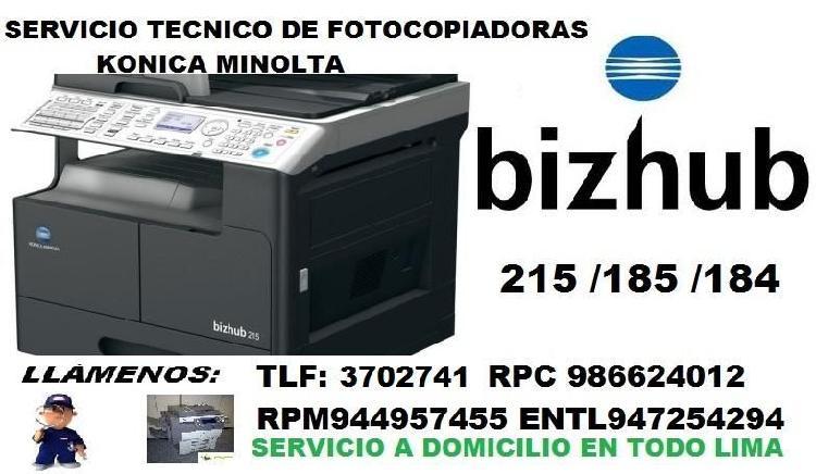 Reparacion y Mantenimiento de Fotocopiadoras Konica Minolta