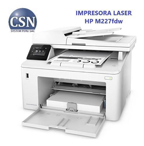Impresora Hp Laserjet Pro M227fdw Multifuncional
