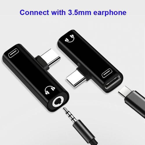 Adaptador Audio Y Carga Tipo C - Xiaomi Samsung Lg Huawei