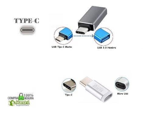 Adaptador Usb Tipo C Otg Usb 3.0 / Micro Usb Smartphone Mac