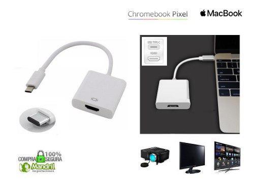 Convertidor Adaptador Usb Tipo C A Hdmi Macbook Chromebook