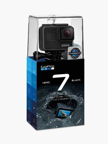 Gopro Hero 7 Black 4k + 2 Baterias +64gb + Protector + Stick