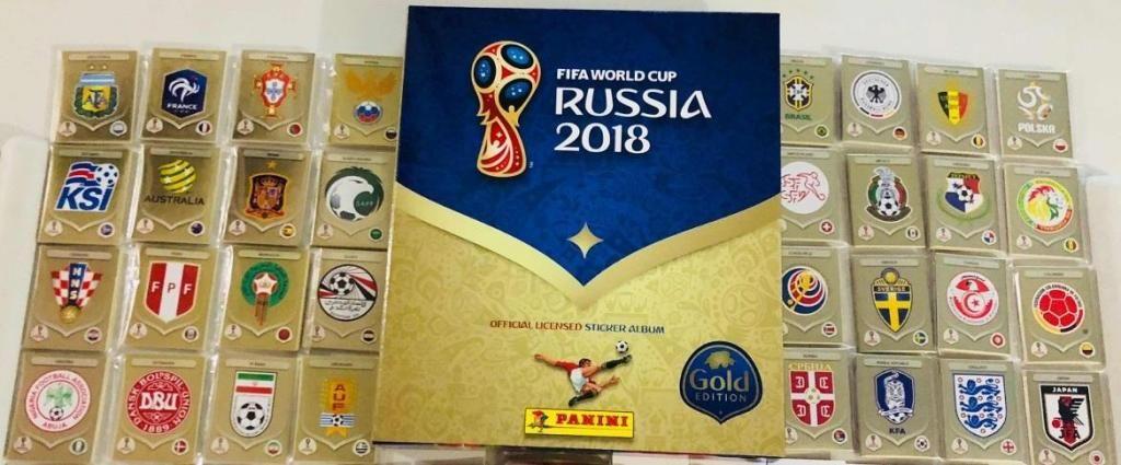 Álbum Panini Gold Edition Rusia  - Set Completo