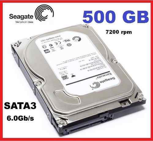 Disco Duro Seagate 500gb 7200rpm Pc Sata Iii Barracuda 6gb/s