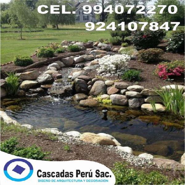 Estanques de jardin, estanques de agua, piletas de agua en