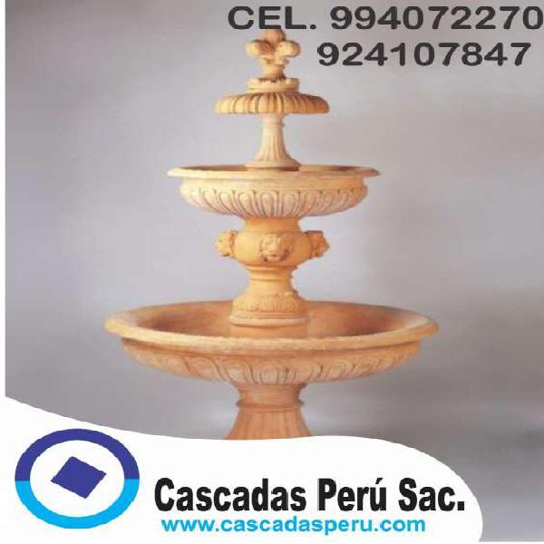 Fuentes de agua lima, piletas modernas, fuentes de agua