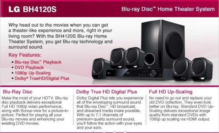 Blu Ray Home Theather Marca Lg