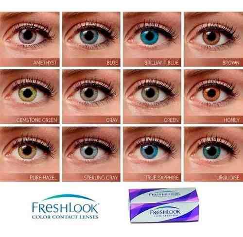 Lentes De Contacto Freshlook Colorblends - 12 Tonos