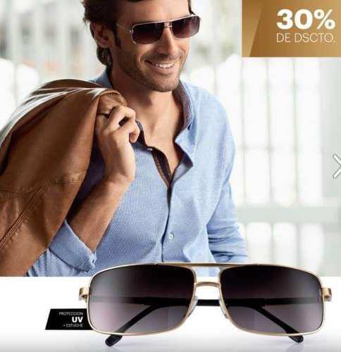 Lentes De Sol Para Hombres D Esika Con Proteccion Uv + Estuc