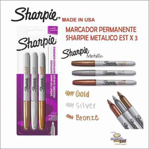 Marcador Permanete Sharpie Metalico Blx3 S/. 20.00
