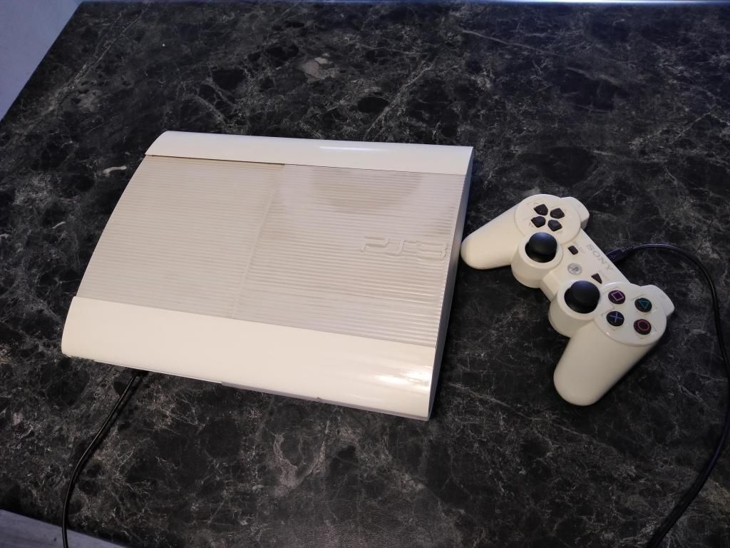Sony PlayStation 3 PS3 Super Slim Consola 500GB Blanco