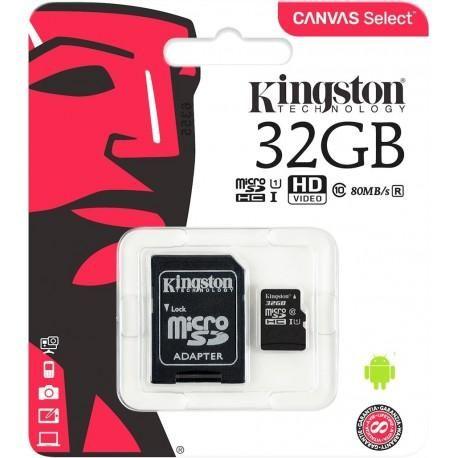 Memoria Micro Sd 32gb Kingston Clase 10 Original Por Mayor