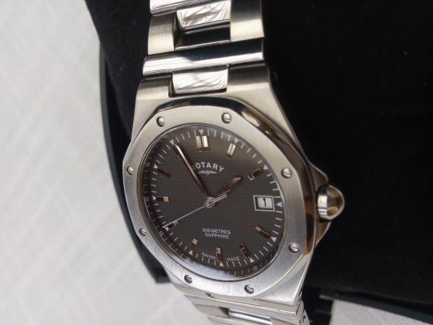 Reloj Rotary Suizo 100 original, 200 mts. profundidad