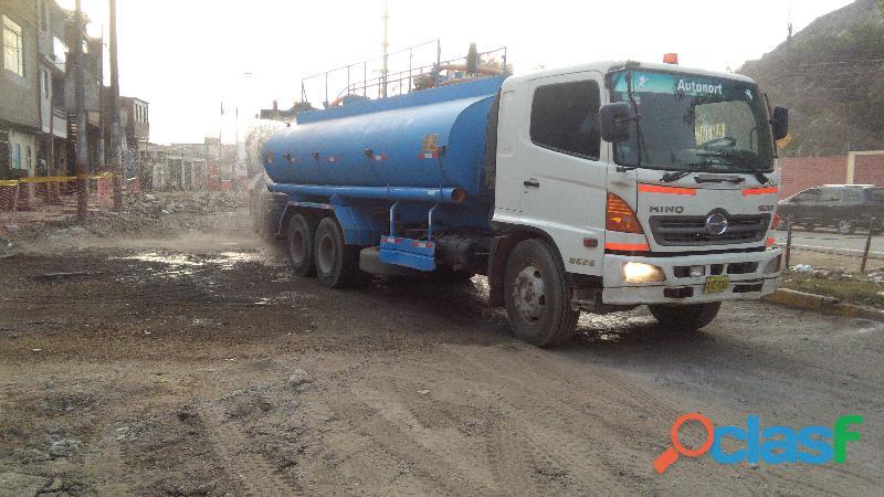 alquiler y servicios de camiones cisternas de agua