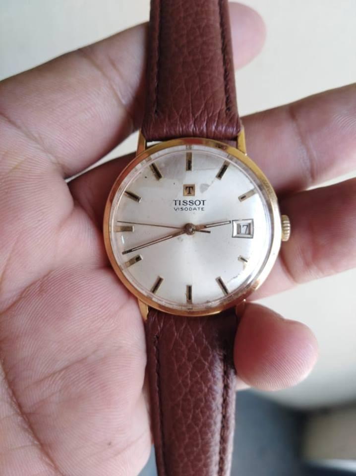 reloj Tissot con Fechador Estuche ORIGINAL 20 Micrones Oro