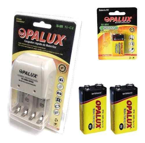 Bateria Doble + Cargador De Pilas Aa Y Aaa, Opalux, Nuevo