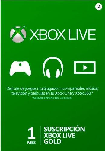 Membresia Xbox Live Gold 1 Mes - Xbox 360 - One