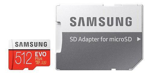 Micro Sd 512 Gb Samsung Evo Plus Clase 10 4k Uhs-i U3 100 Mb