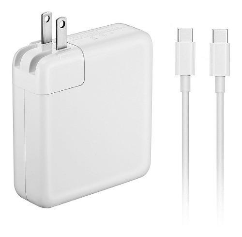 Cargador Usb-c 61w Carga Rápida Macbook & iPad + Cable