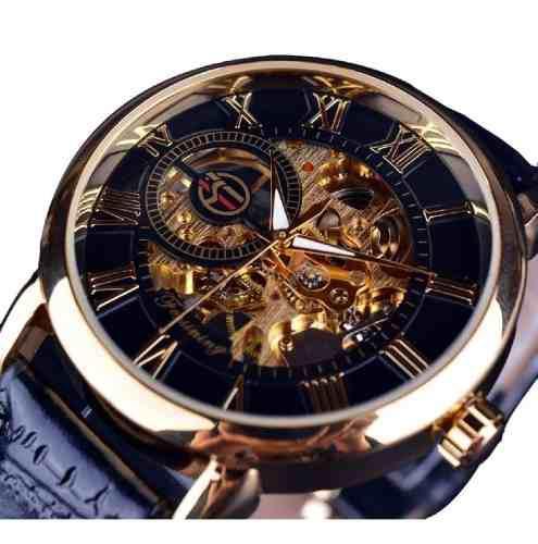 Reloj Hombre De Lujo Mecánico Automático Esquelético