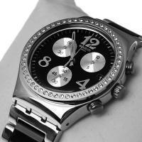 Reloj Swatch Irony Mujer Negro Acero Nuevo Con Etiquetas