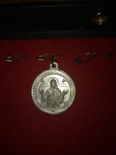 Yh Antigua Medalla O Dije Apostolado Del Corazon De Jesus