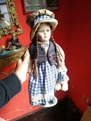 Yh Antiguo Muñeca De Porcelana Aldeana Cambio Remato