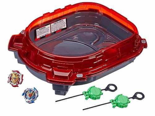 Beyblade Turbo Rail Rush Battle Set Furia Sobre Rieles