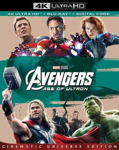 Blu Ray Avengers: Era De Ultrón 2d - 4k - Stock - Nuevo