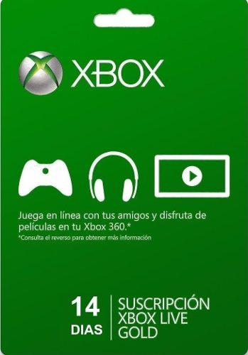 Xbox Live Gold 14 Días Código Global(Todos Los Países)