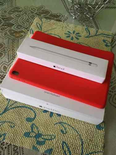 iPad Pro Accesorios Pencil +smart Keyboard + Case Apple Red