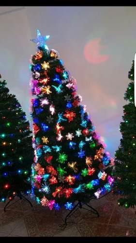 Arbol Navidad Luces Led Y Fibra Optica A Provincia