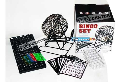 Bingo Bolillero De Metal + 18 Cartillas * Set Nuevos