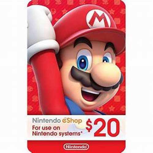 Tarjetas Nintendo Eshop Switch Wii U 3ds