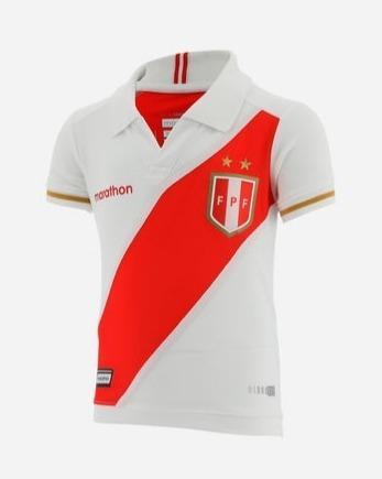 Camiseta Polo Peru De Niño Selección Peruana 2019
